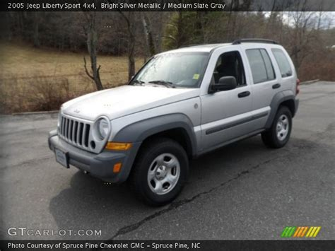 silver jeep liberty bright silver metallic 2005 jeep liberty sport 4x4