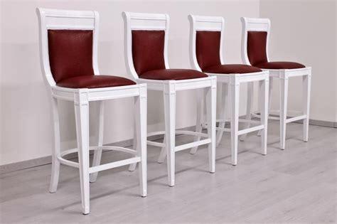 sgabelli classici sgabello laccato bianco stile impero idfdesign