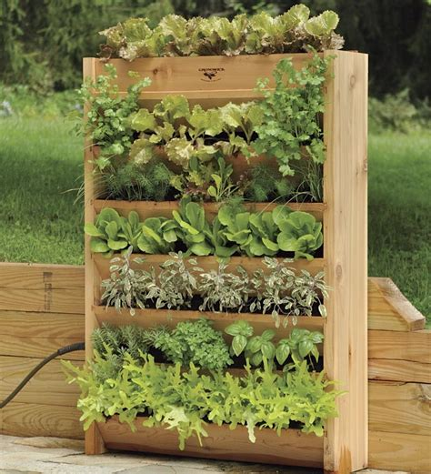 Vertical Garden Beds Cedar Vertical Garden With Irrigation System Raised Beds