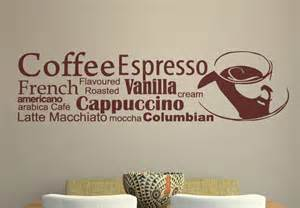 Wall Stickers For Kitchen Coffee Variation Wall Decal Great Kitchen Decor