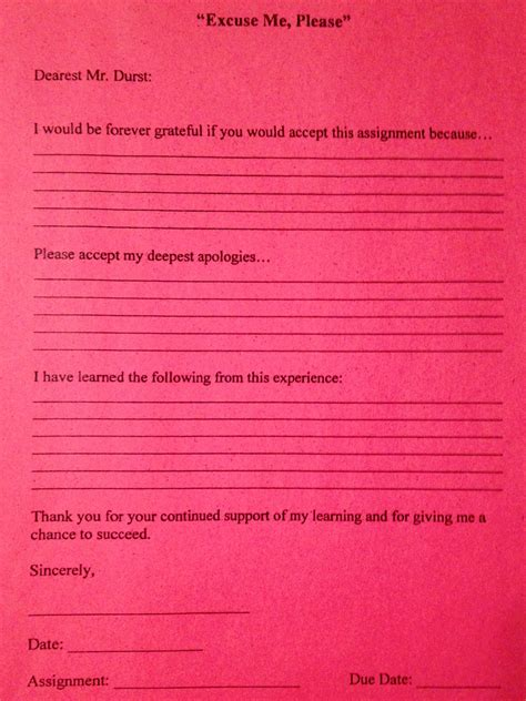 Apology Letter Rubric Reflecting On Student Reflection Form Of The