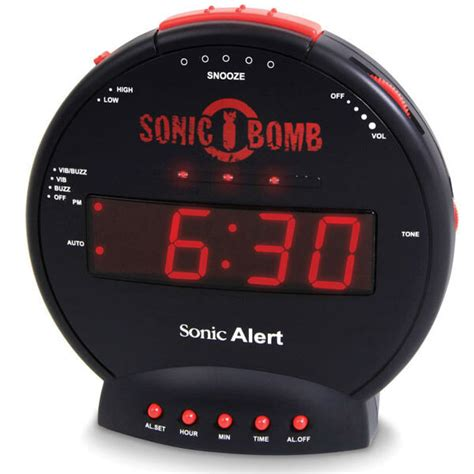 extremely super loud sonic bomb alarm clock vibrating bed