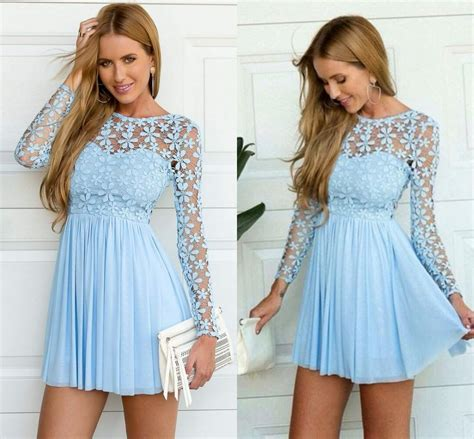 light blue lace dress with sleeves light blue lace skater dress great ideas for fashion