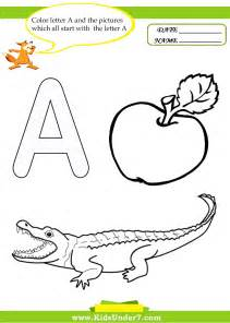 5 letter colors 7 letter a worksheets and coloring pages