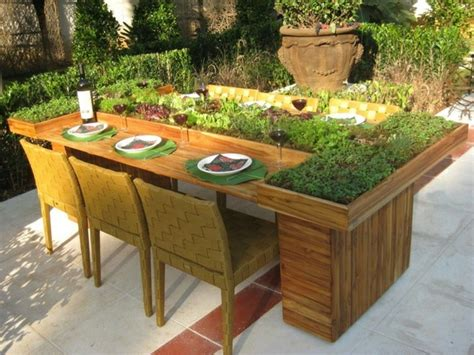 Garden Table Planter by Diy Table From Wooden Pallets Creative Ideas For Planters