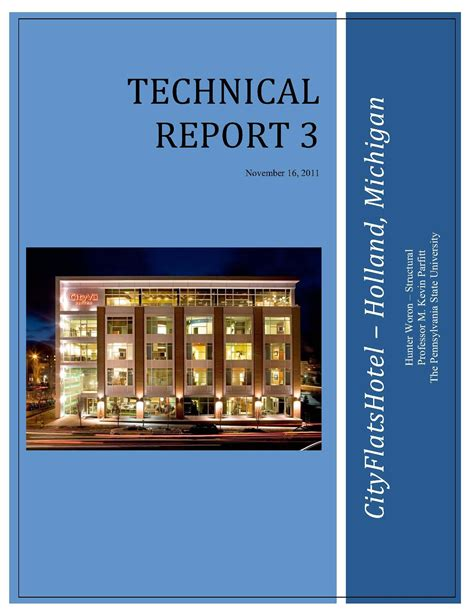 technical report cover page template cityflatshotel technical reports