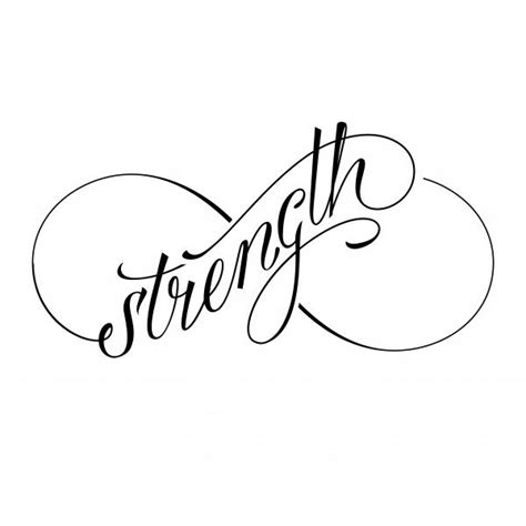infinity tattoo strength strength letters nice black ink infinity symbol tattoo