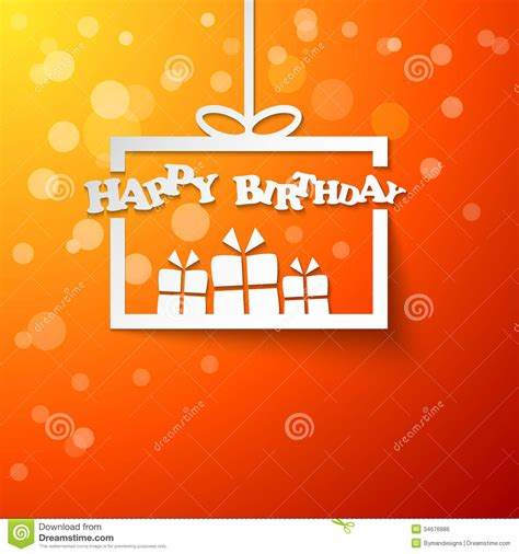 Sle Happy Birthday Wishes Paper Gift Box With Happy Birthday Royalty Free Stock