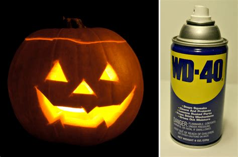 preserve your jack o lantern for weeks with wd 40