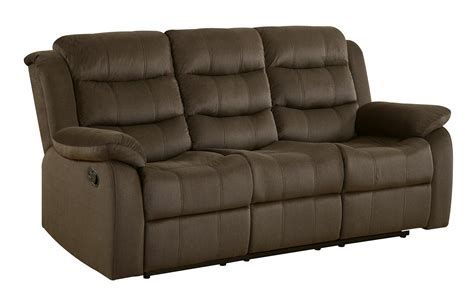 two tone reclining sofa coaster 601881 rodman reclining sofa in two tone chocolate