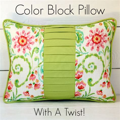 unique pillows to help you get a good night sleep stunning color block pillow tutorial