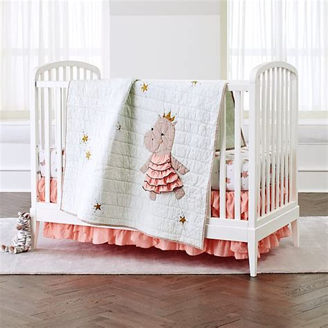 royal hippo crib bedding 3 set reviews crate