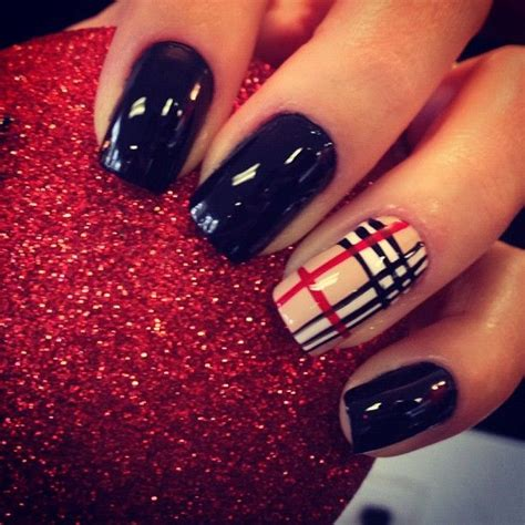 burberry pattern nails burberry nails nail designs pinterest cute nails
