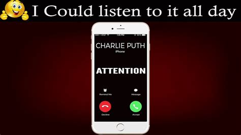 charlie puth ringtone attention ringtone charlie puth youtube