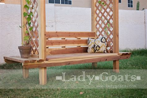 bench with trellis plans for arbor with bench sarah sechan
