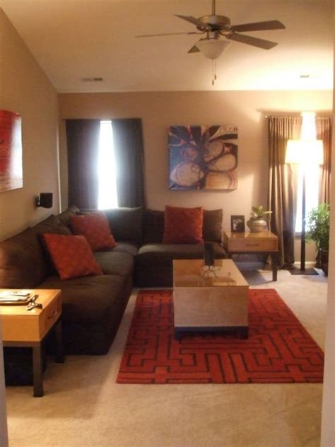 brown home decor red and brown living room ideas