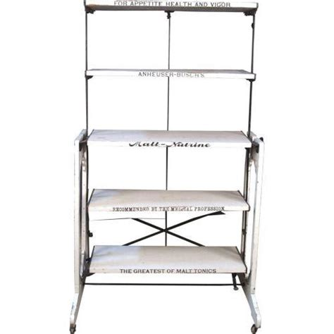 folding display shelves anheuser busch malt nutrine folding display shelf