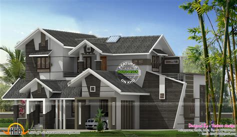 unique modern home design unique 5 bhk contemporary house kerala home design and