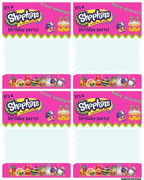 printable shopkins shopping list a shopkins birthday party creative outpour for future