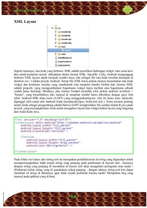 layout xml sat buku praktis android a z