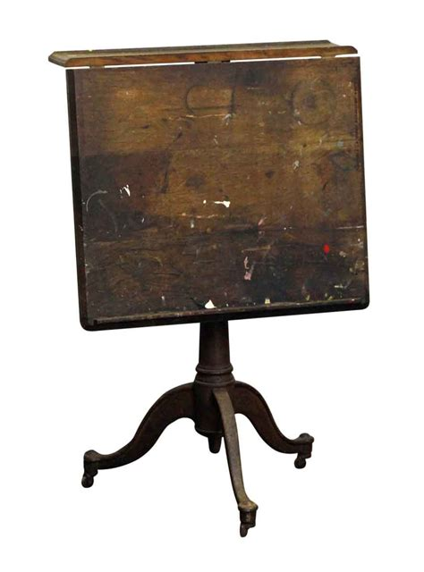 Cast Iron Drafting Table Base Antique Wooden Drafting Table With Cast Iron Base Olde Things