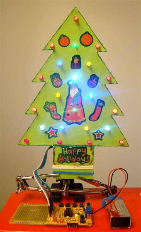 small led christmas tree a mini led tree embedded lab