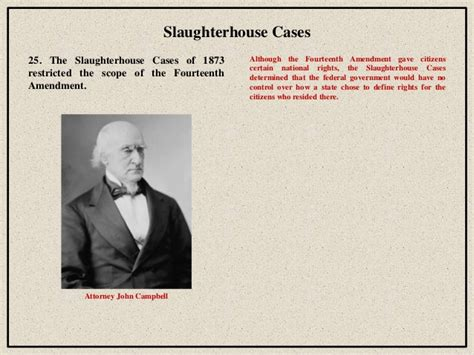 Slaughter House Cases by Reconstruction