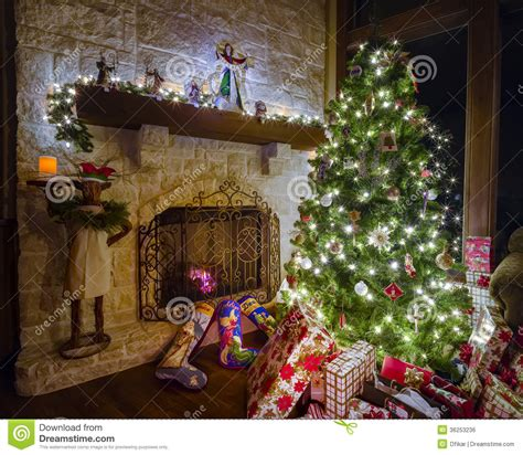 christmas in the family room stock photo image 36253236