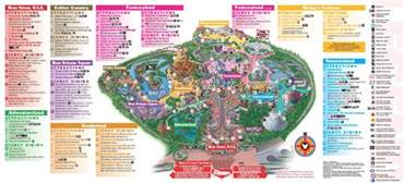maps disneyland california disney california adventure map 2013