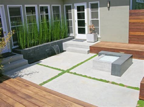 How To Make A Cement Patio by Concrete Patio Design Ideas And Cost Landscaping Network