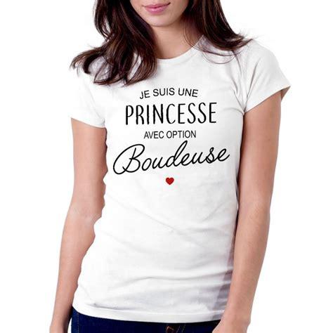 Tshirt Jesuis Une t shirt femme blanc je suis une princesse avec option