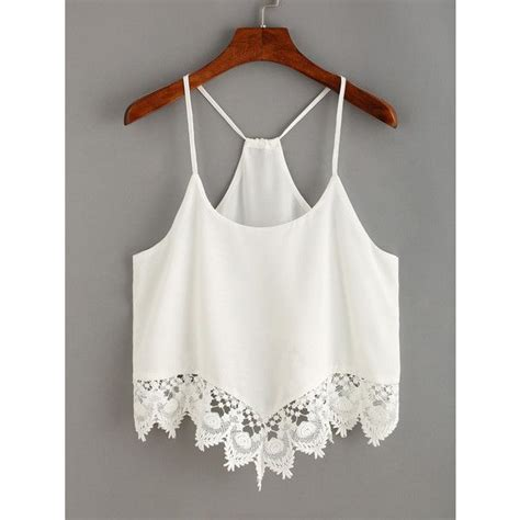Barrow White Lace Tank 4613 best my polyvore finds images on baseball