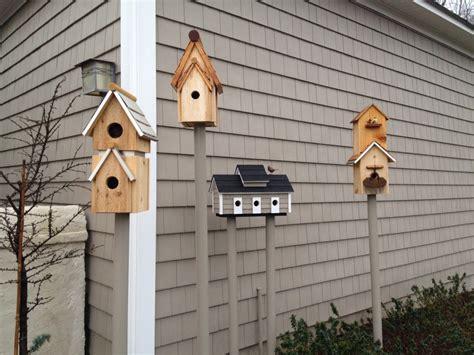 Handmade Birdhouse - handmade bird houses feeders table
