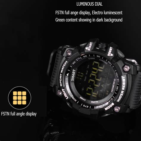 Time Owner Bluetooth Clock EX16 Smart Watch Notification Remote Control Pedometer Sport Watch