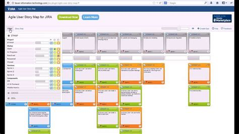 agile storyboard template agile user story map for jira