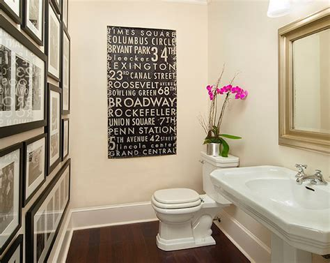 bathroom artwork ideas photo wall in bathroom transitional bathroom traci