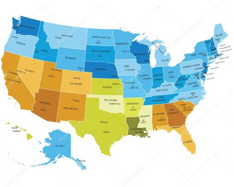 map of usa states only usa map with names of states stock vector 169 lumumba 6379823