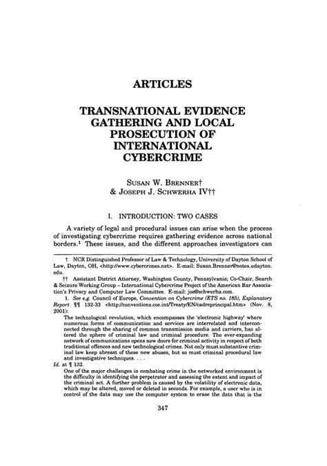 Transnational Evidence Gathering And Local Prosecution Of