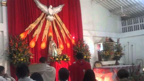 arreglo del templo para la celebracion de unm pentecost 201 s 2014 parroquia cristo buen pastor magangu 201