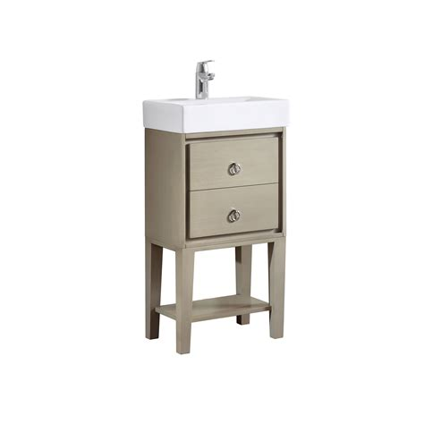 18 Inch Bathroom Vanities Kent Taupe Glaze 18 Inch Vanity Combo Avanity Vanities Bathroom Vanities Bathroom