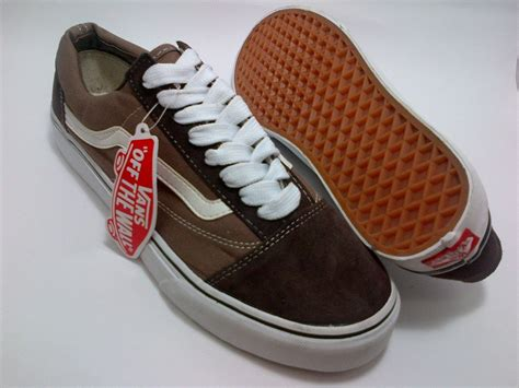 Sepatu Vans Leopard Brown vans skool brown shoes shop id