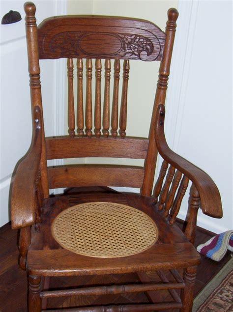rocking chair seat antique rocking chair oak press back w spindles seat