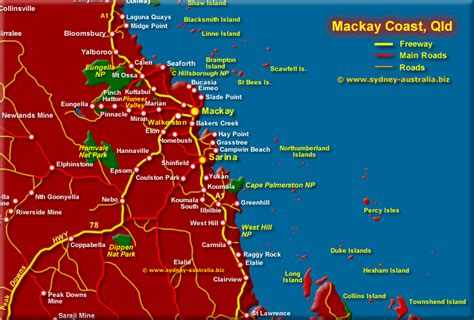 map of australia and surrounds mackay surrounds map qld