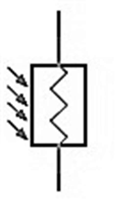 ldr resistor symbol working of light dependent resistor ldr robotics s