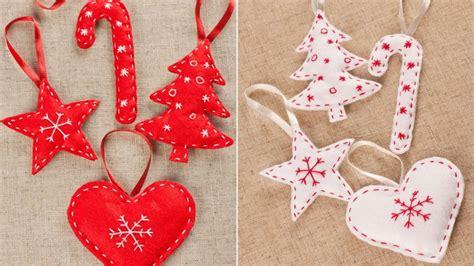 moldes de adornos fieltro para arbol adornos de navidad de fieltro f 225 ciles de hacer hogarmania