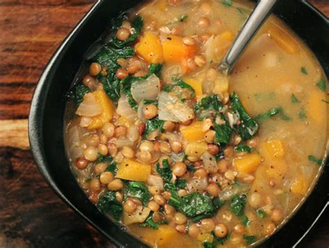 Butternut Squash Kale Soup Detox by Green Lentil Butternut Squash Soup Yumuniverse