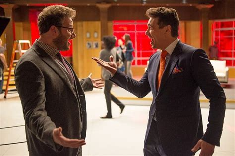 how the hacking at sony over the interview became a the interview clip leaks online after seth rogen and