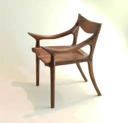 Mid Century Leather Chair Custom Made Sam Maloof Style Lowback Chair By J Blok