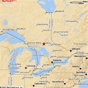 sudbury canada map location of sudbury and burwash area
