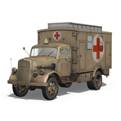 opel blitz truck opel blitz 3t ambulance truck 2 pzdiv 3d model